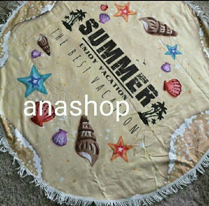 Яркий пляжный коврик из микрофибры фото №1