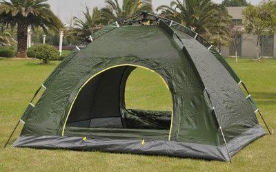 Палатка-автомат 4-х местная с автоматическим каркасом leomax (210х210х140) фото №1