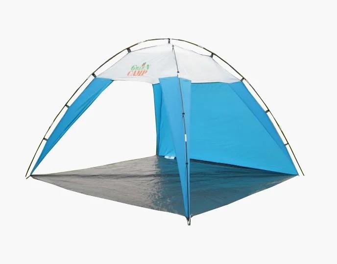 Тент пляжный green camp 1045 размер 220*220 см. высота 160 см фото №1