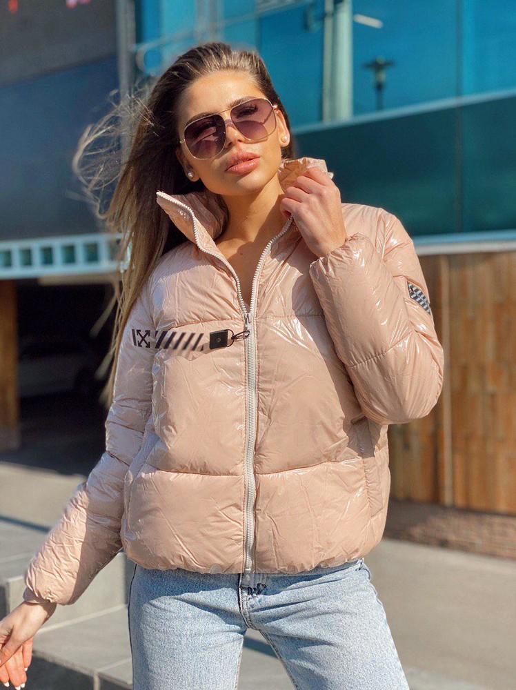 Куртка-пуховик лак (монклер)! объемная, очень теплая! фото №1