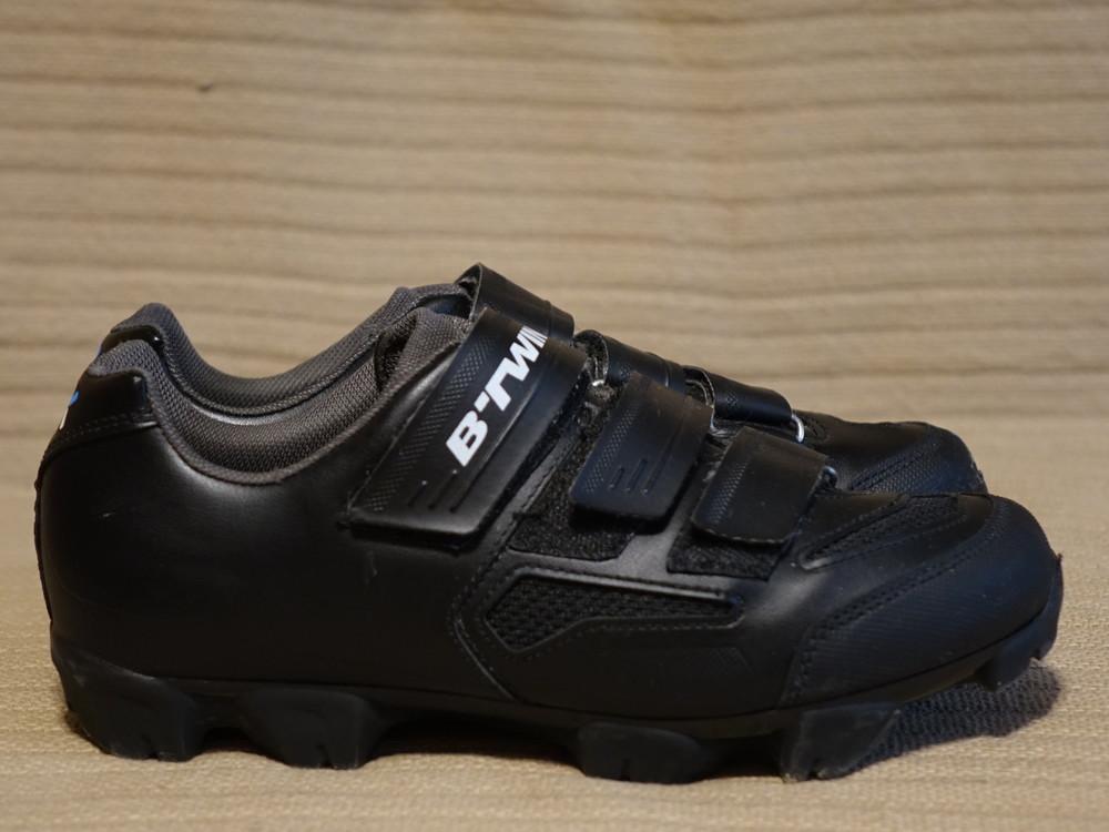 Контактные черные велотуфли b´twin 500 mtb shoes, spd mtb,, 41 р 26 см фото №1