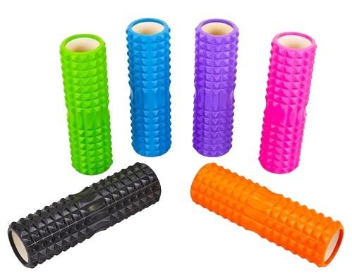 Ролик массажный, роллер, валик для фитнеса и йоги grid roller pro eva 45 см фото №1