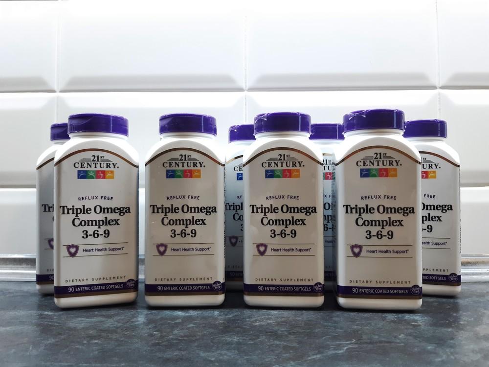 21st century, triple omega 3-6-9 (90 капсул), омега 3-6-9, омега 3 6 9 фото №1