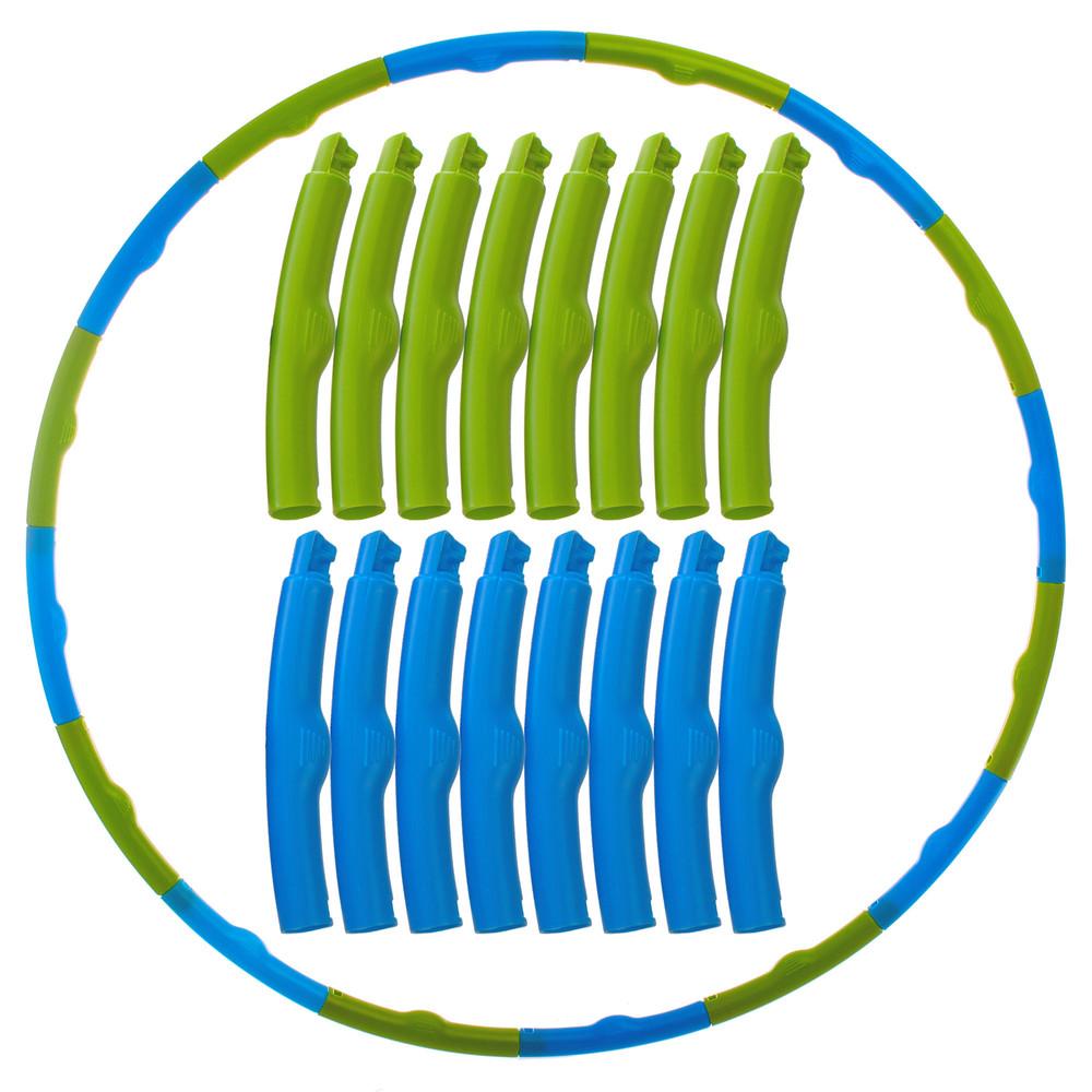 Обруч массажный хула хуп hula hoop 1560: 12 частей, диаметр 80см фото №1