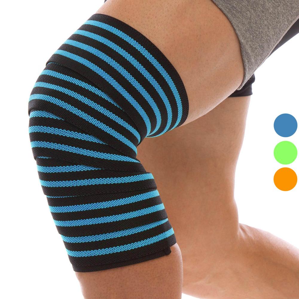 Бинты на колени для приседаний mute 9098: длина 2м (3 цвета) фото №1