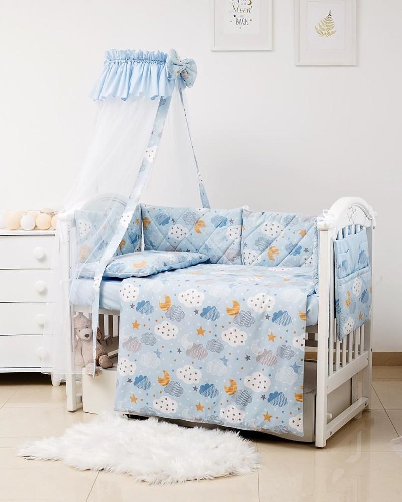 Набор постельного, бортики, балдахин, карман в кроватку гламур фото №1