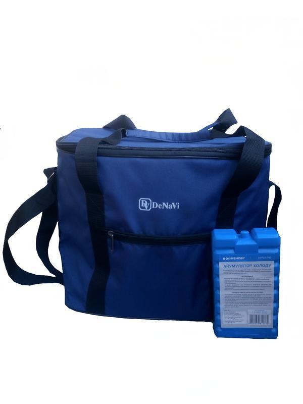 Термосумка 30 л denavi денави, сумка-холодильник с аккумулятором холода в комплекте фото №1