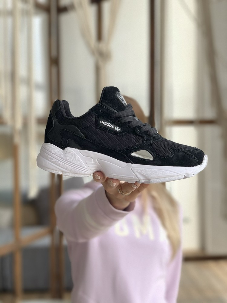 Кроссовки adidas falcon black (aaa+)37-39-40-41-42-43-44 фото №1