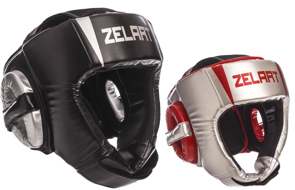Шлем боксерский открытый zelart 1324: размер m-xl, 2 цвета фото №1