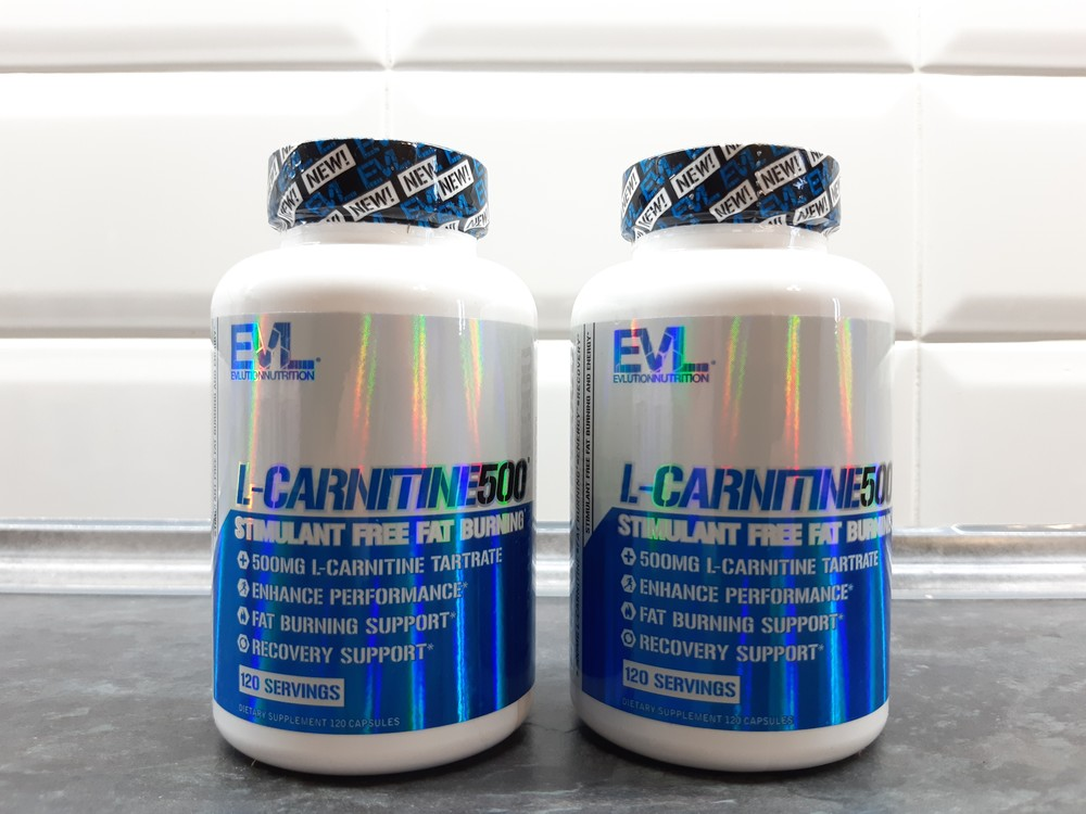 Evl nutrition, l-carnitine 500 (120 капс.), l-карнитин, жиросжигатель фото №1