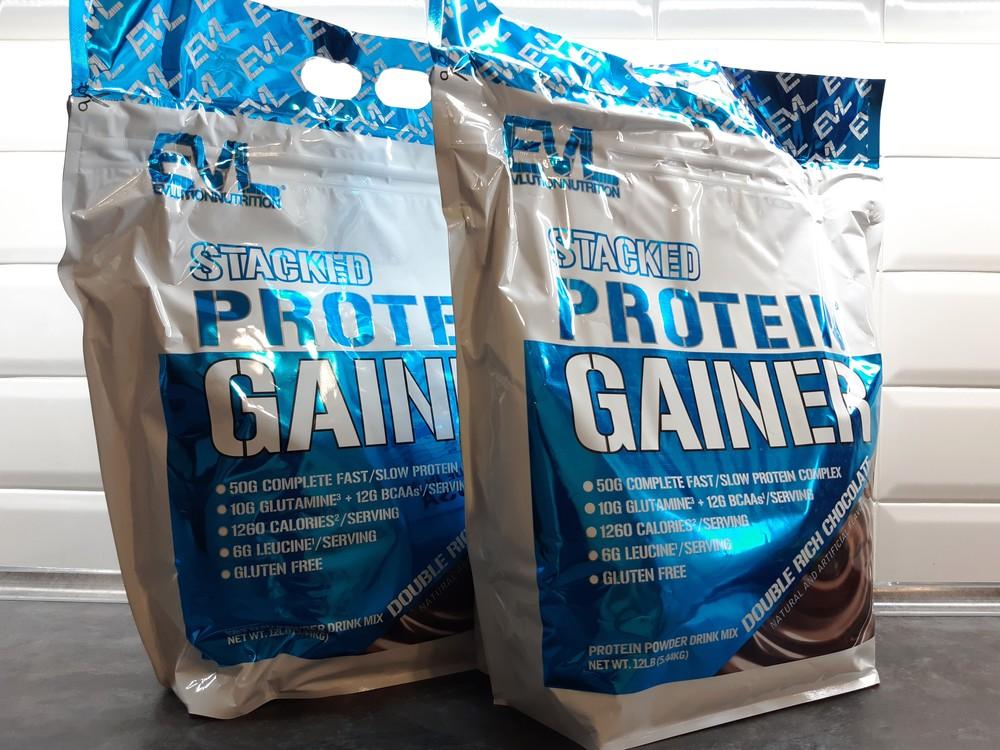 Evl nutrition (usa), stacked protein gainer (5,44 кг) гейнер для массы фото №1
