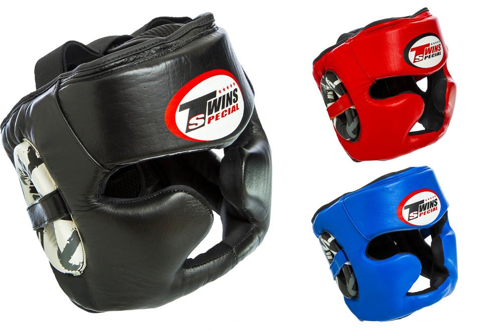 Шлем боксерский с полной защитой twins 015 (шлем бокс): размер m-xl (3 цвета) фото №1