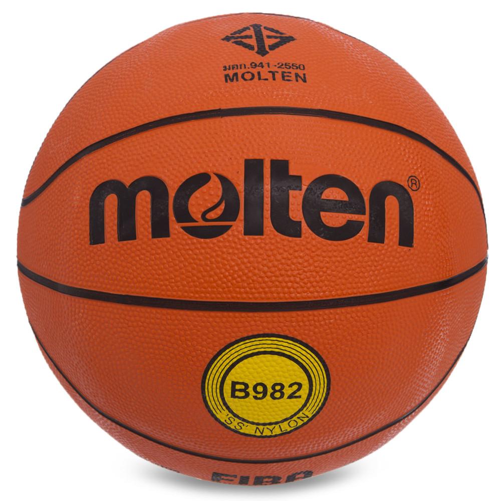 Мяч баскетбольный резиновый molten №7 b982: размер №7 (резина, бутил) фото №1