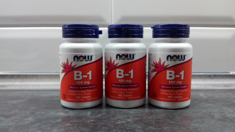 Now foods, витамин b-1 (100 таб. по 100 мг), вітамін в1, vitamin b-1 фото №1