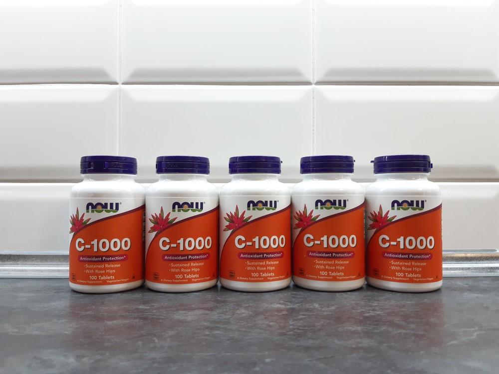 Now foods, c-1000 (100 таб.), vitamin c, вітамін с-1000, витамин с фото №1