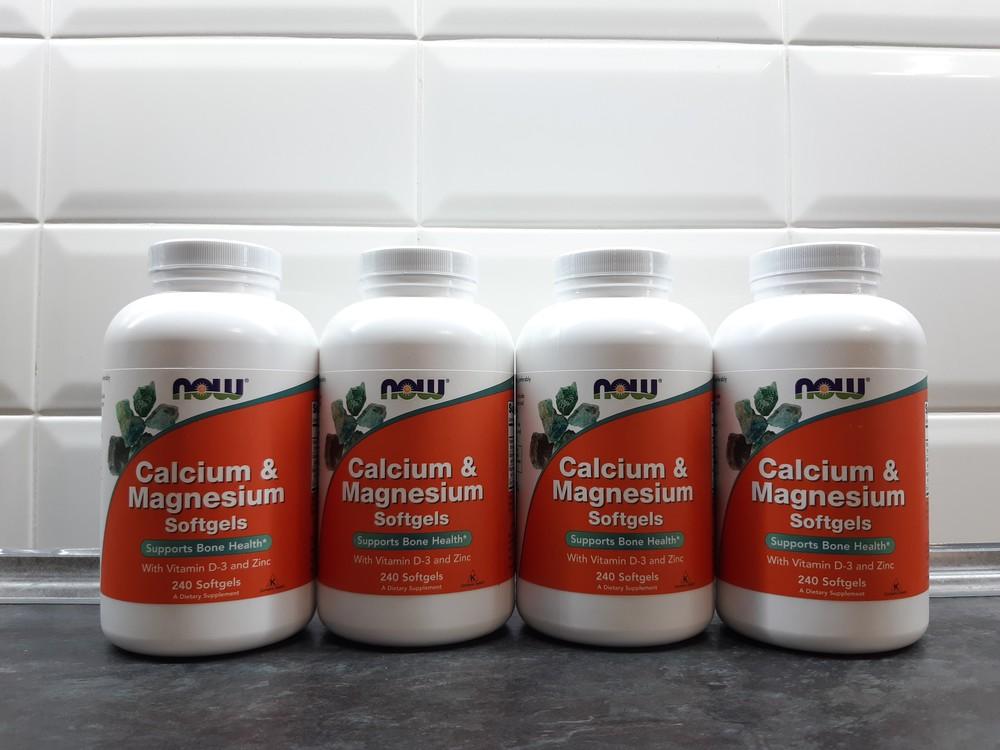 Now foods, кальций+ магний+ d3+цинк (240 капс), calcium magnesium zinc фото №1