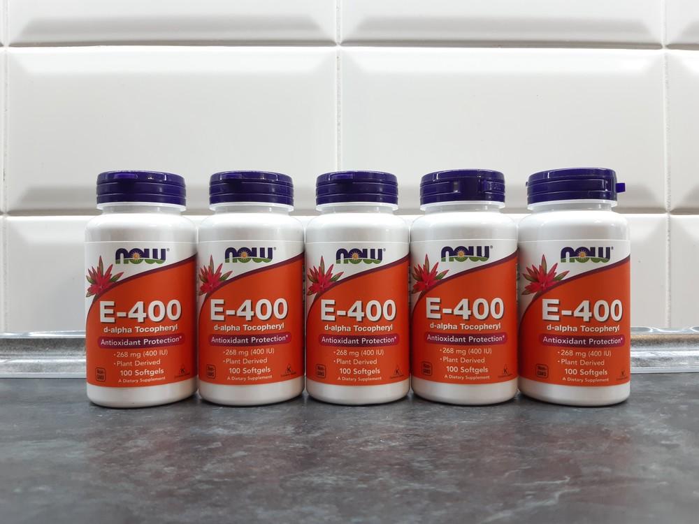 Now foods, витамин е-400 (100 капс х 400 ме), вітамін е, vitamin e-400 фото №1