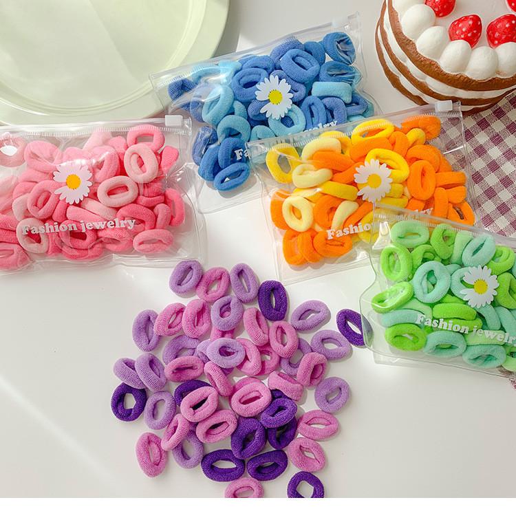 Набор резинок для волос. микс. 3 цвета. 50 штук. фото №1