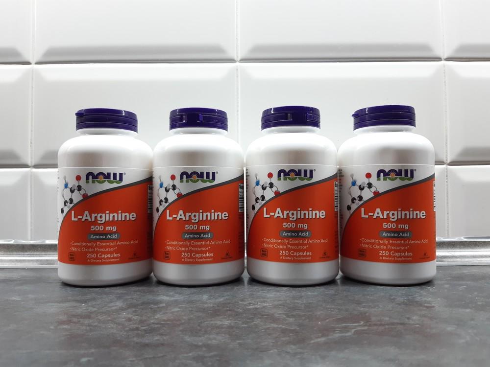 Now foods, l-arginine (250 капс. по 500 мг), аргинин, аргінін фото №1