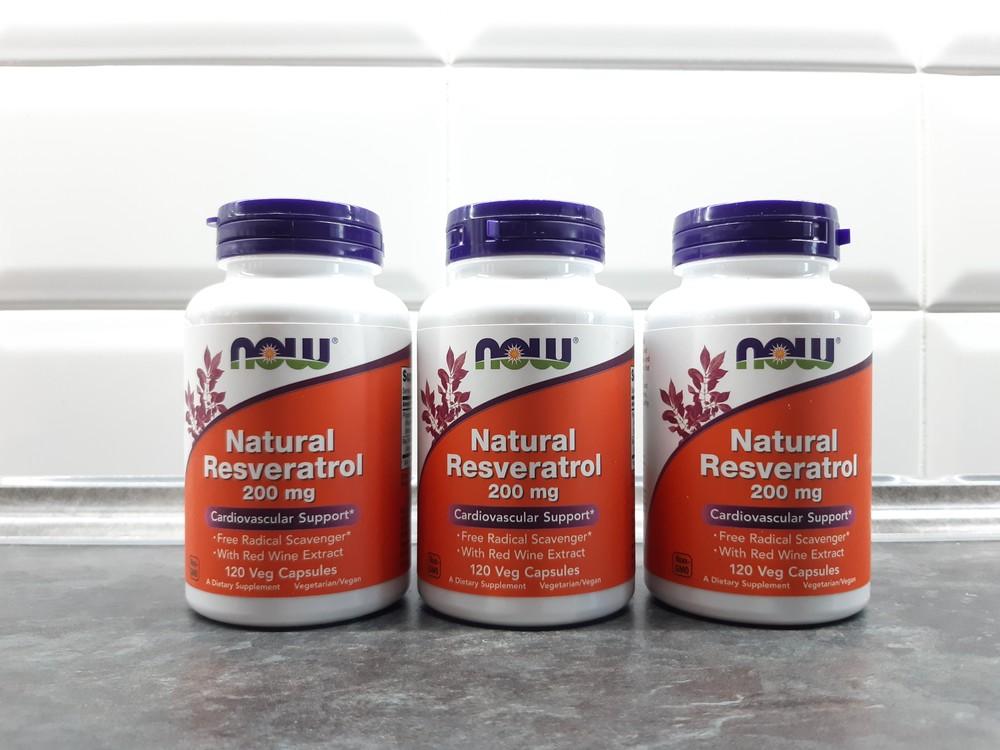 Now foods, ресвератрол (120 капс. по 200 мг), resveratrol фото №1