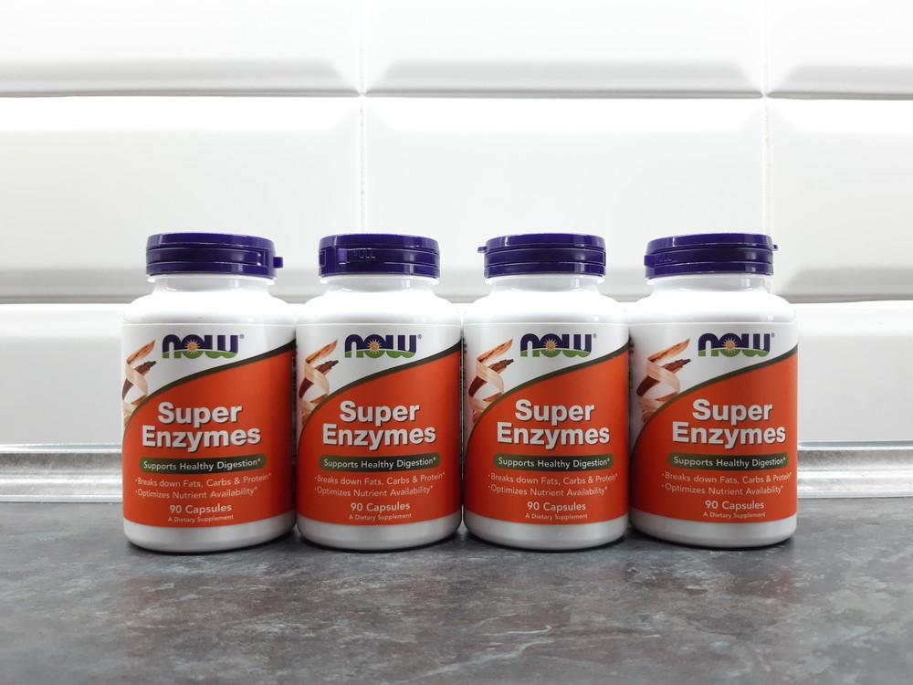Now foods, super enzymes (90 капсул), ферменты, энзимы, пробиотики фото №1