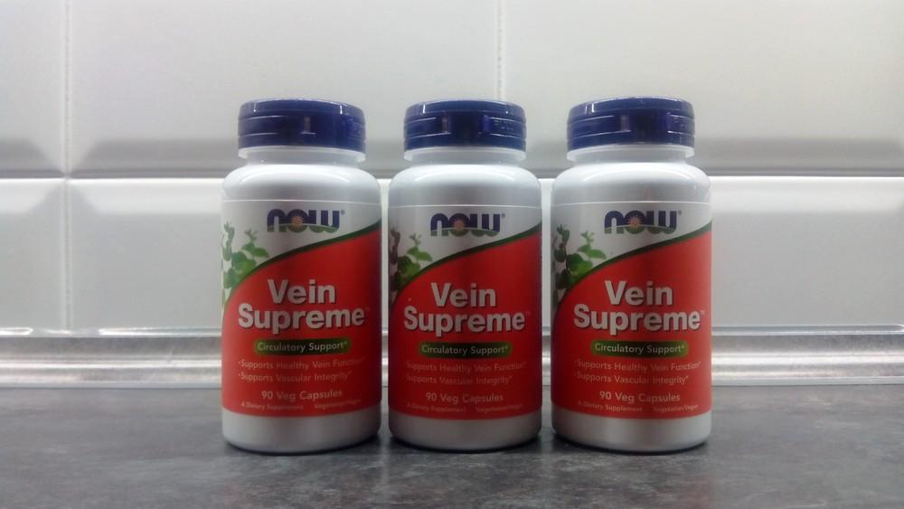 Now foods vein supreme (90 капсул), для вен, для сосудов, от варикоза фото №1