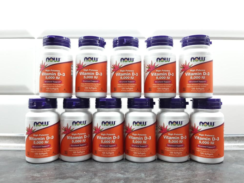 Now foods, витамин d3 (120 капс. по 5000 ме), vitamin d-3, вітамін d3 фото №1