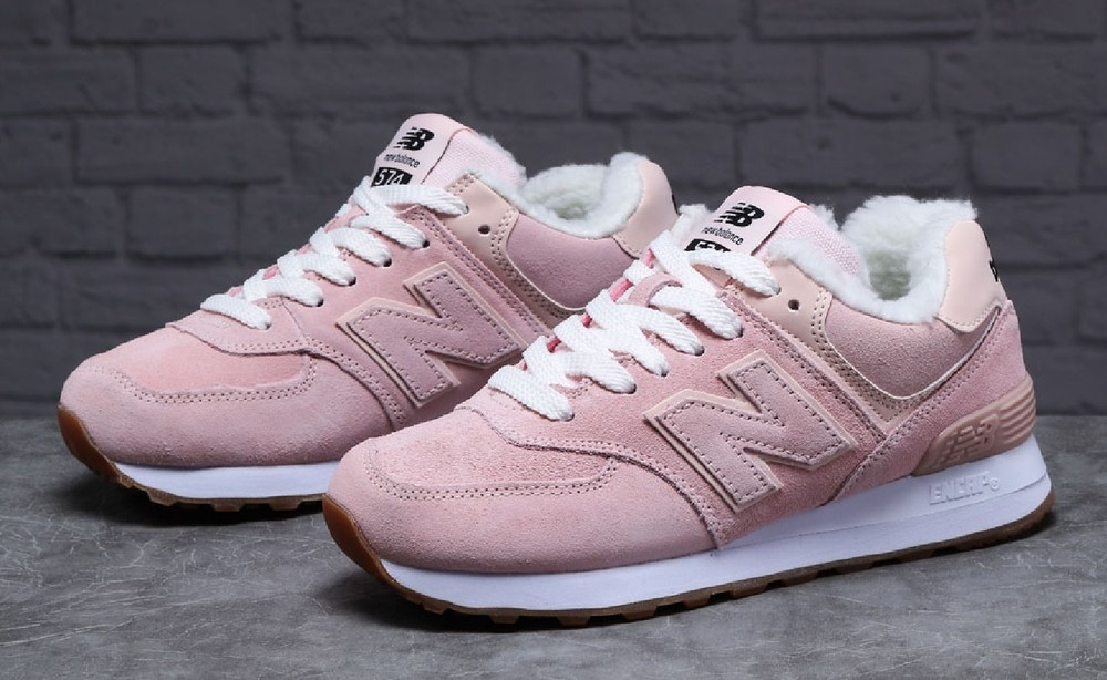 ► тёплые зимние кроссовки new balance т7_31353, женские бледно-розовые фото №1
