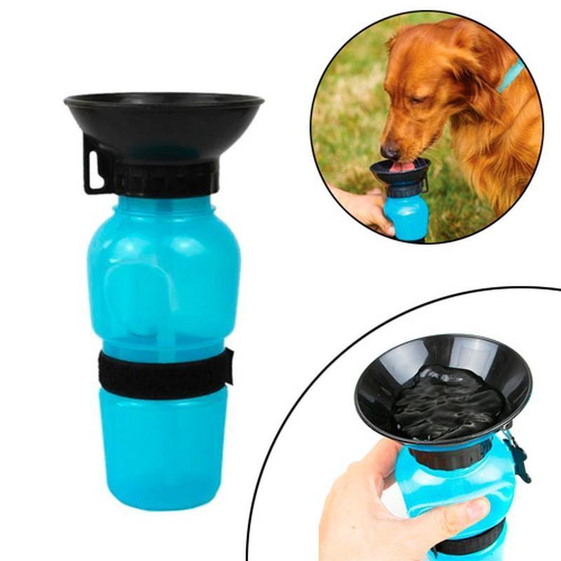 Поилка для собак прогулочная 500 мл. aqua dog с чашей фото №1
