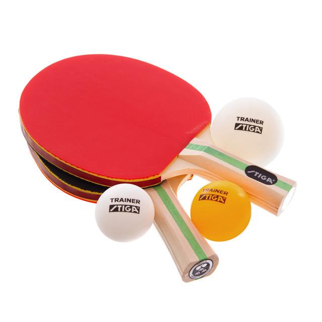 Набор для настольного тенниса детский stiga technique 1220081501: 2 ракетки + 3 мяча фото №1