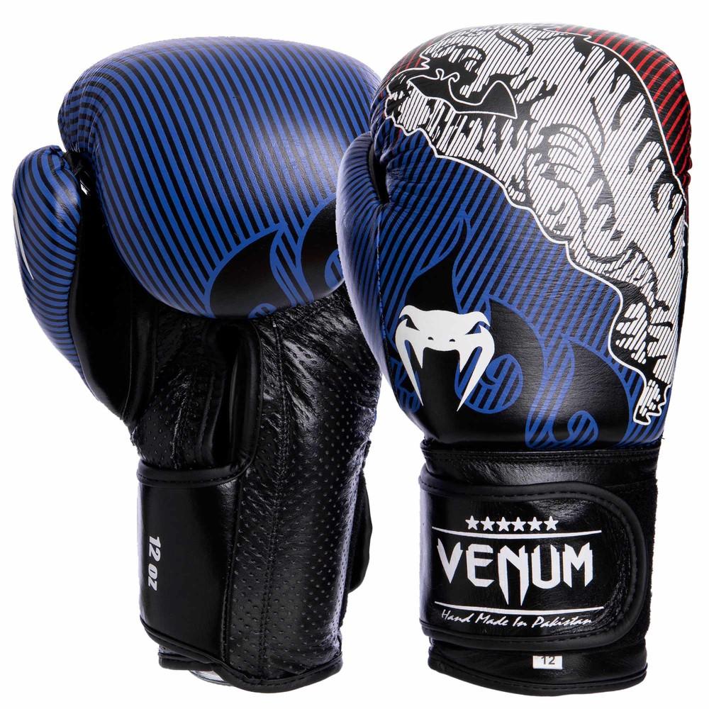 Перчатки боксерские кожаные на липучке venum tiger legend 2044: 10-14 унций фото №1
