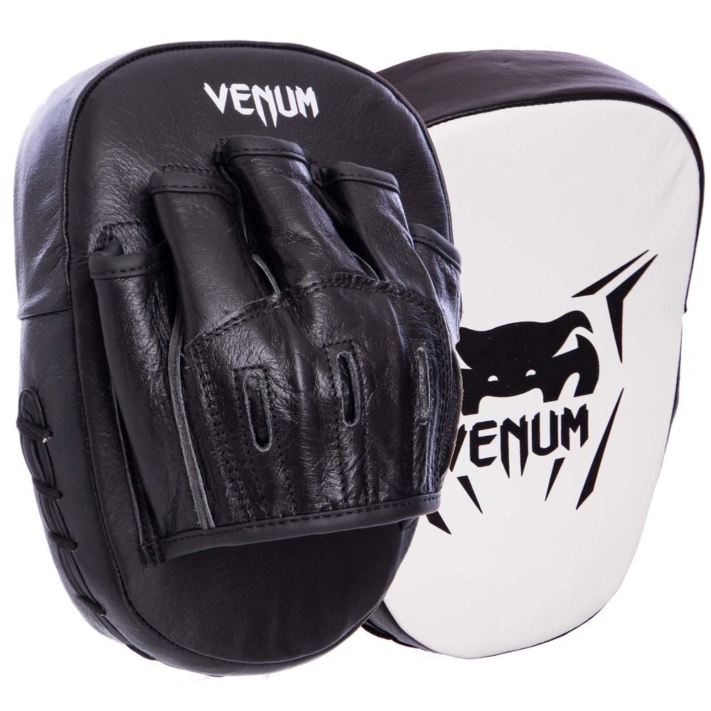 Лапа изогнутая кожаная venum mini focus mitts 2053: крепление на липучке фото №1