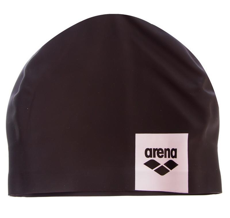 Шапочка для плавания arena logo moulded 001912: силикон, черный фото №1