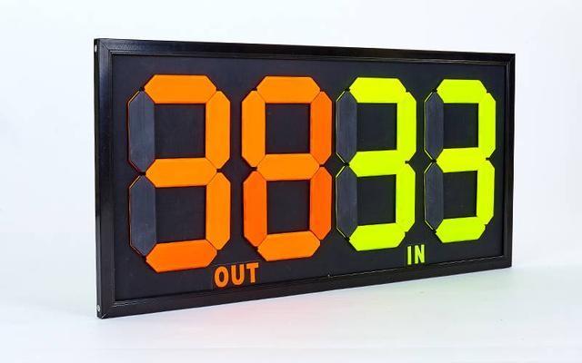 Табло замены игроков 2912-00-00: размер 83x38см, двухсторонее фото №1