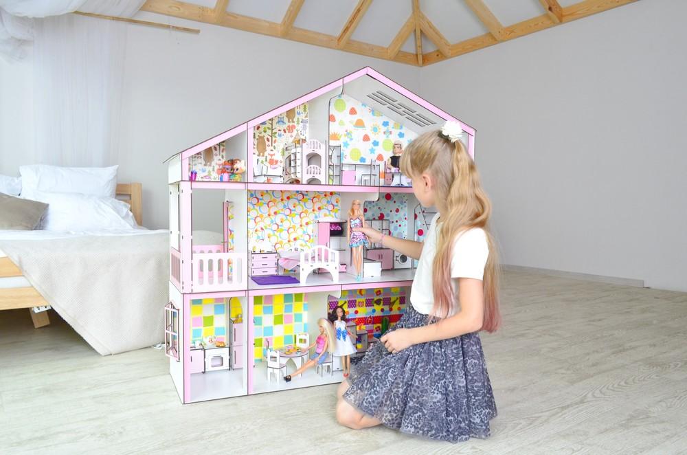 Супердом с секретом для кукол барби с мебелью. большой кукольный дом для lol omg фото №1