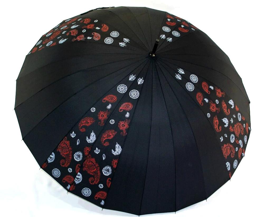 Большой женский зонт трость антишторм fiaba 24 спицы диаметр 120 см фото №1