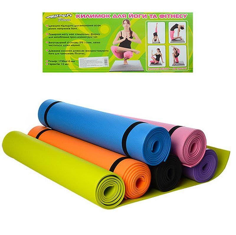 Йогамат коврик для фитнеса и йоги m 0380 фото №1