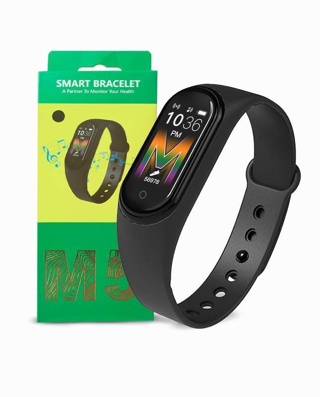 Фитнес часы трекер цветной экран m5 fit smart mi band фото №1