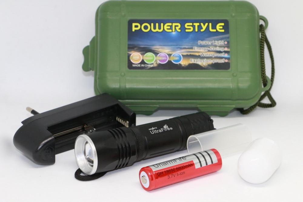 Фонарик ручной аккумуляторный ultrafire wf-301 фото №1