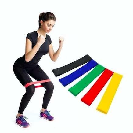 Резинки для фитнеса fitness bands, в наборе 5 штук фото №1