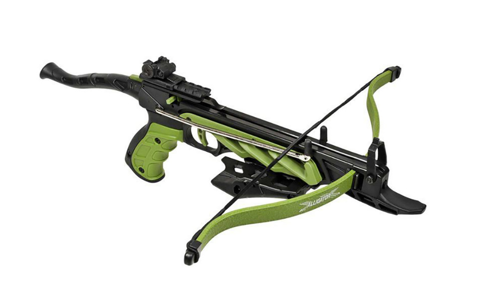 Арбалет man kung рекурсивный, пистолетного типа, green фото №1
