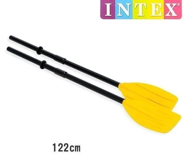 Сборные весла пластиковые intex 59623, (длина - 122см), желтые фото №1