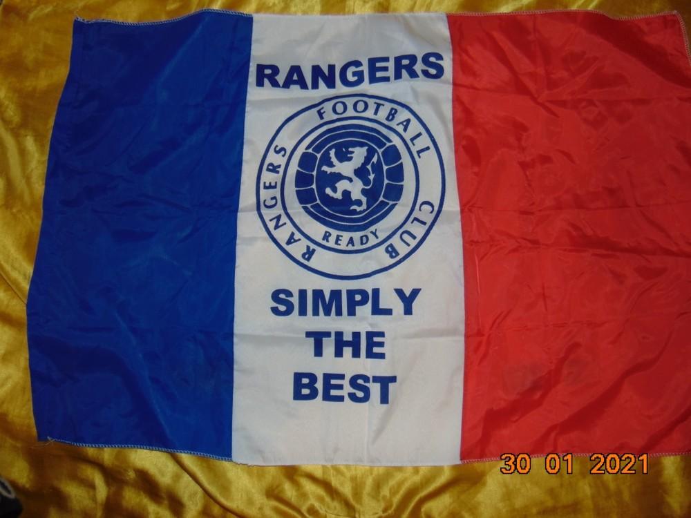 Спортивний футбольний флаг банер ф.к рейнджерс. фото №1