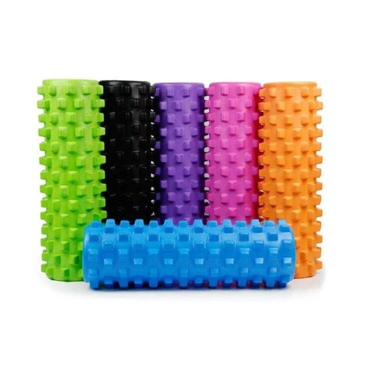 Валик массажный, роллер, ролик для фитнеса и йоги grid roller eva 33 x 14 см, 45 x 14 см фото №1