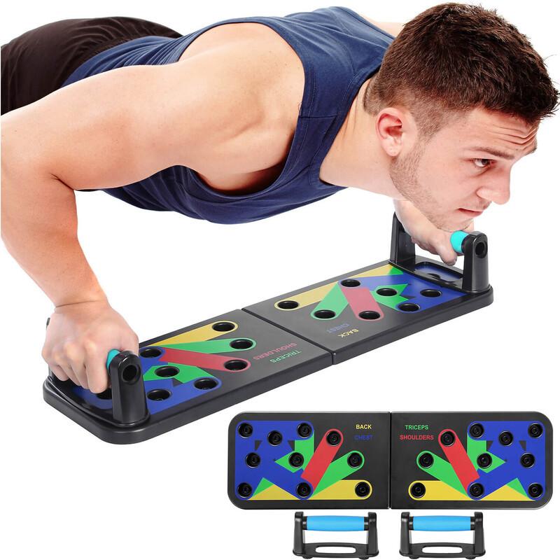Платформа с упорами для отжимания u-power push up rackboard 9 в 1 фото №1