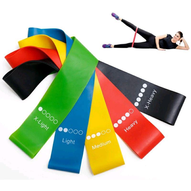 Набор фитнес резинки, фитнес ленты fitness loop bands набор из 5 штук фото №1