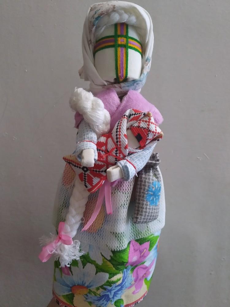 Кукла мотанка берегиня с младенцем фото №1