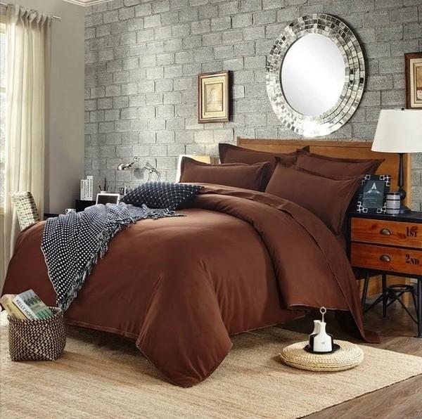 Постельное белье ранфорс коричневый фото №1