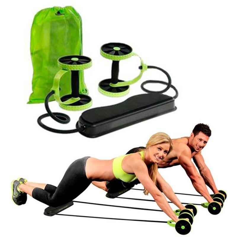 Многофункциональный тренажер для тела с 6-ю уровнями тренировки revoflex xtreme green фото №1