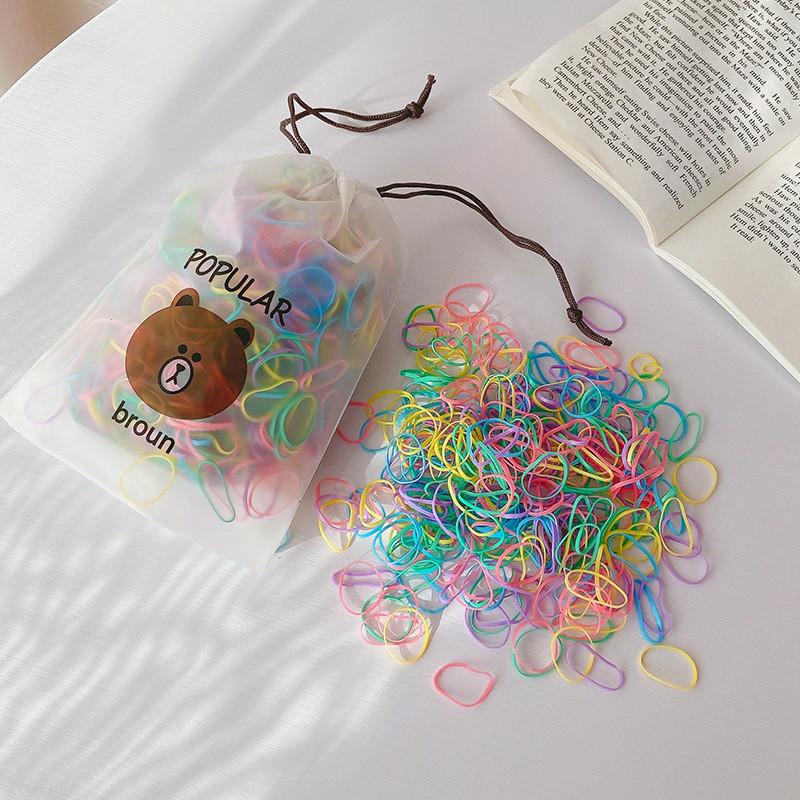 Набор силиконовых резинок для волос. яркие средние. 2000 штук. фото №1
